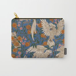 Cockatoos and Pomegranates 2 - Walter Crane Carry-All Pouch