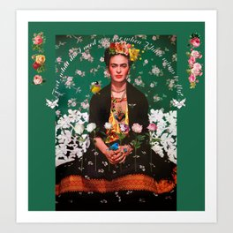 Wings To Fly Frida Art Print