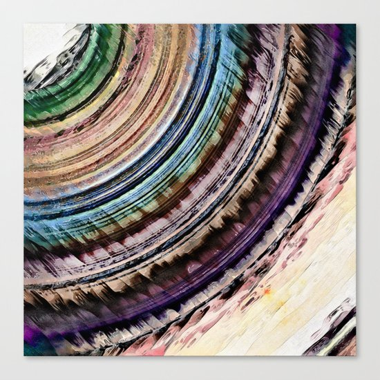 Abstract Textural Rings Canvas Print