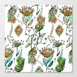 Protea Flower Orange #homedecor Canvas Print