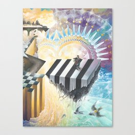 On The Other Side Of Wastelands - Skyward Canvas Print
