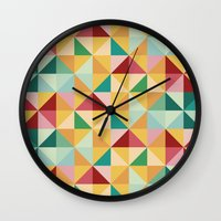 candy Wall Clocks featuring Candy by According to Panda