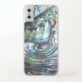 Shimmery Pastel Abalone Shell Clear iPhone Case