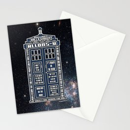 Doctor Who - Tardis Typography Stationery Cards