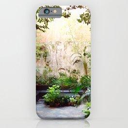 Hidden French quarter garden iPhone Case