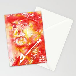 PABLO NERUDA - watercolor portrait .6 Stationery Cards