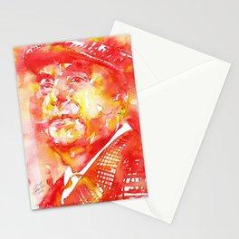 PABLO NERUDA - watercolor portrait .6 Stationery Cards