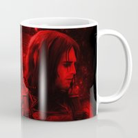 bucky barnes Mugs featuring The Winter Soldier (Bucky Barnes) Hydra Print by thecannibalfactory