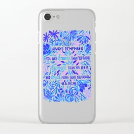 Always Remember – Indigo Palette Clear iPhone Case
