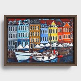 Colours of Nyhavn Framed Canvas