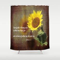 Faithful Sunflower Shower Curtain