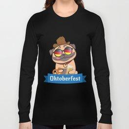 Pug Oktoberfest Funny Long Sleeve T-shirt