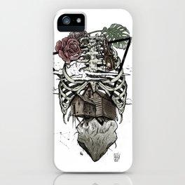 Esqueleton Illustration by Javi Codina iPhone Case