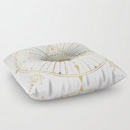 All-Seeing Eye Mandala – Gold Palette Floor Pillow