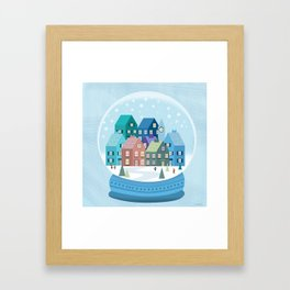 Snowglobe Framed Art Print