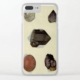 Quartz Minerals Clear iPhone Case