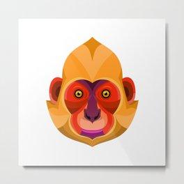 Golden-headed Langur Flat Icon Metal Print
