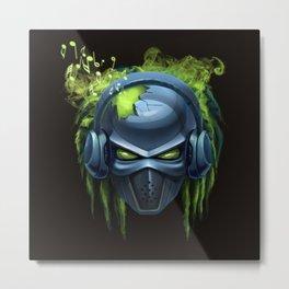 music robot Metal Print