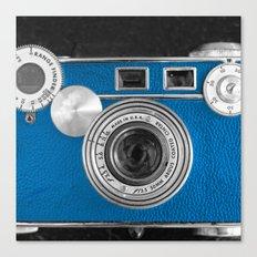 Dazzel blue Retro camera Canvas Print