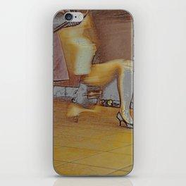 a modern lady iPhone Skin