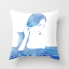 Water Nymph LXIX Throw Pillow