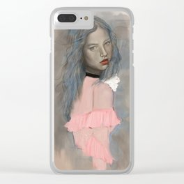 Classic Beauty Clear iPhone Case