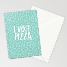 I Vote Pizza  Stationery Cards