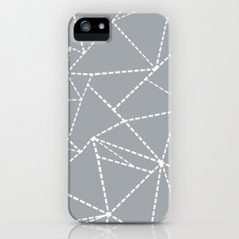 Abstract Dotted Lines Grey iPhone Case