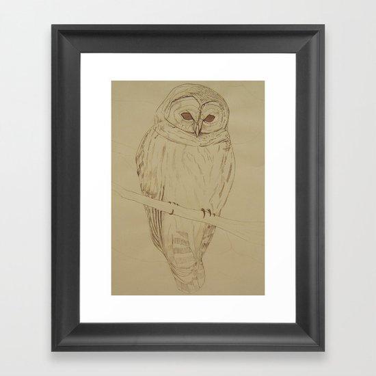 Ink Owl Framed Art Print