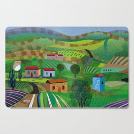 Santa Barbara Wine and Cheese Cutting Board
