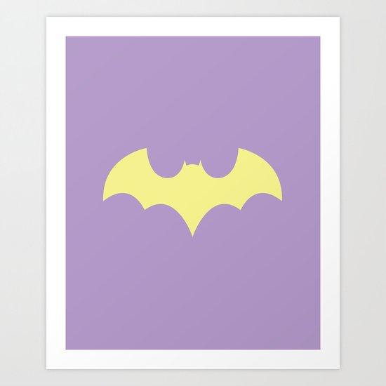 Batgirl Pastel Art Print