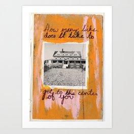 HOW MANY LICKS Art Print