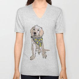 Lemon the Labradoodle Unisex V-Neck