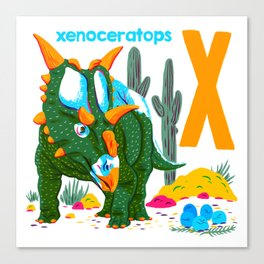 X is for Xenoceratops Canvas Print