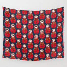 Russian doll pattern Wall Tapestry
