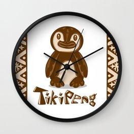 Tiki Penguin Wall Clock