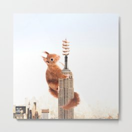 Squirrel-zilla Metal Print