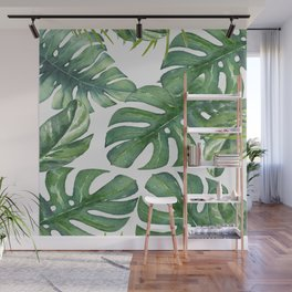 Monstera Leaves Wall Mural