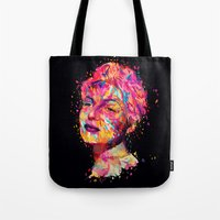wasted rita Tote Bags featuring Rita by Alessandro Pautasso