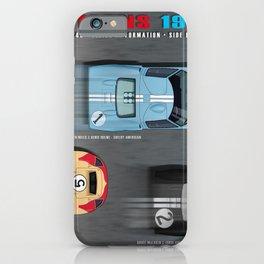 GT40 Finish side by side 1966 Landscape iPhone Case