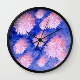 Invasion of the space microbes Wall Clock