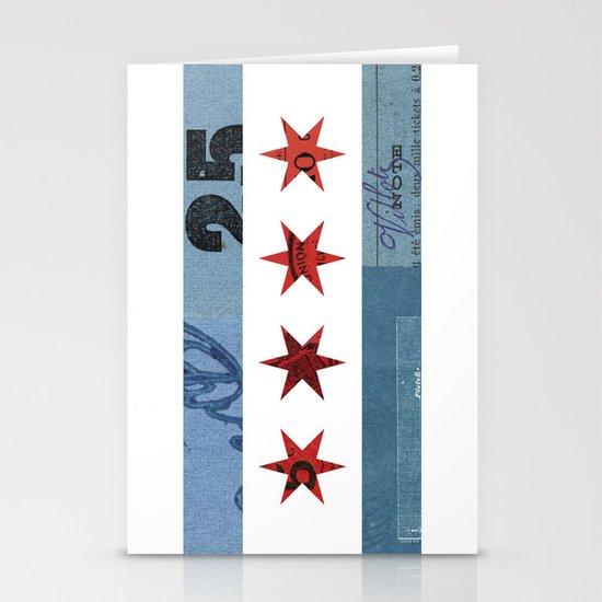 Ephemeral Chicago Flag Stationery Cards