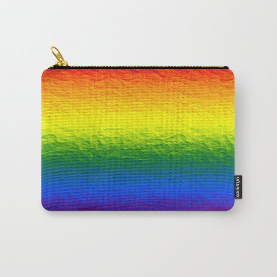 Rainbow Gradient Painted Pattern Carry-All Pouch