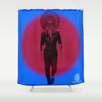 lebron Shower Curtains featuring Scarce on Chiefs by SaintCastro