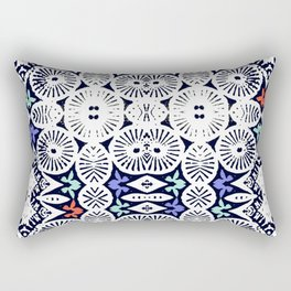 fraternité: artisanal tribal in black & white Rectangular Pillow