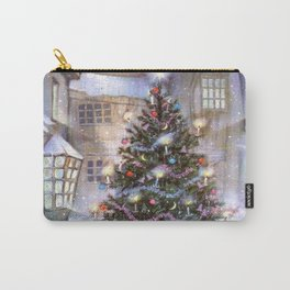 Vintage Christmas Tree Carry-All Pouch
