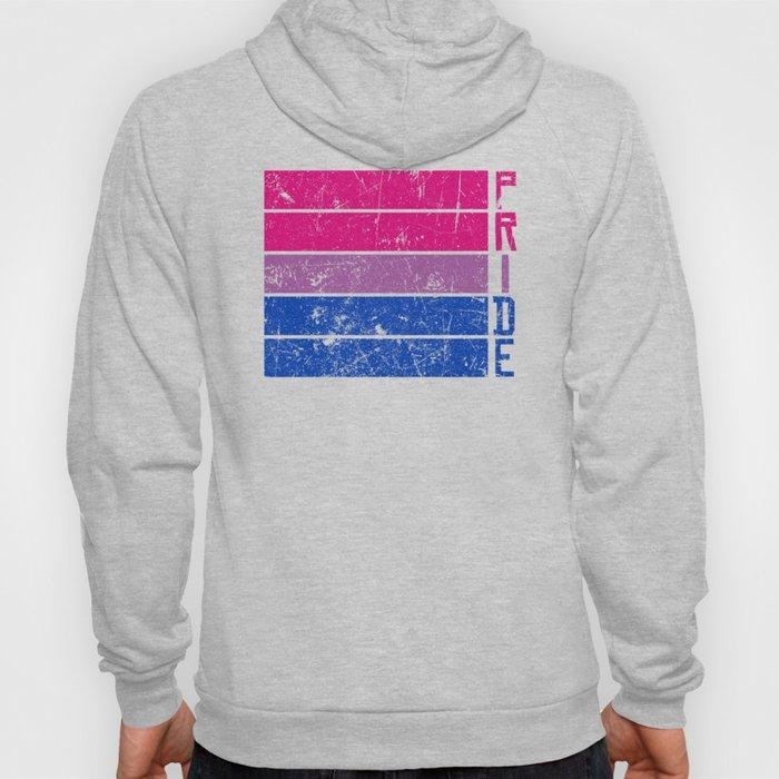 Gay Pride LGBT Bisexual Bi Distressed Pop Art  design Hoody