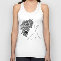 anxiety Tank Tops featuring Anxiety by Jacquelyn Anthony