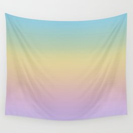 Pastel Rainbow Ombre Gradient Wall Tapestry