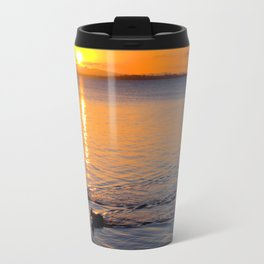 Wading in the Sunset Travel Mug